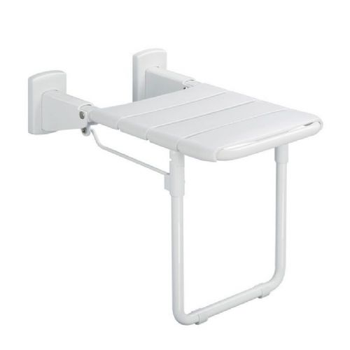 Delabie 511431 Wall-Mounted Doc M Shower Seat with Leg
